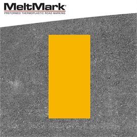 MeltMark lijn geel 100 x 50 cm