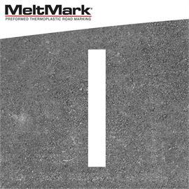 MeltMark lijn wit 100 x 15 cm