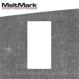 MeltMark lijn wit 100 x 50 cm