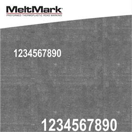 MeltMark nummers - hoogte 300 mm wit