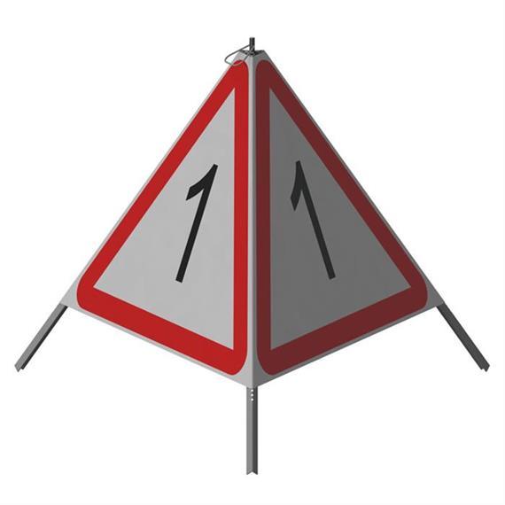 Triopan Standaard (aan alle drie de zijden hetzelfde)  Hoogte: 110 cm - R2 Hoogst reflecterend