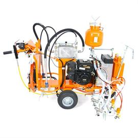 CMC AR40ITP-2C - Bezpowietrzna maszyna do znakowania dróg z napędem hydraulicznym 2 pompy membranowe