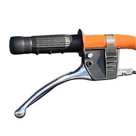 Dźwignia do uruchamiania pistoletu lakierniczego lub koła obrotowego