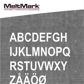 Litery MeltMark - wysokość 1.000 mm w kolorze białym