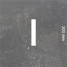 Litery MeltMark - wysokość 300 mm w kolorze białym - List: I  wysokosc: 300 mm
