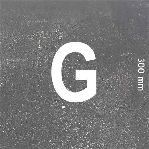 Litery MeltMark - wysokość 300 mm w kolorze białym - Litera: G  wysokosc: 300 mm