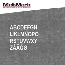 Litery MeltMark - wysokość 300 mm w kolorze białym