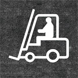Oznakowanie podłogi wózka widłowego 1400 x 1580 mm