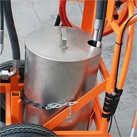 Pojemnik do znakowania atramentów z pokrywą wykonany ze stali nierdzewnej