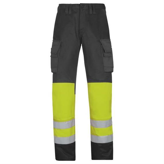 Spodnie z paskiem High Vis klasa 1, żółte, rozmiar 44