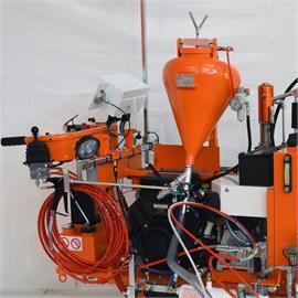System perełek szklanych z 20-litrowym stożkowym zbiornikiem ciśnieniowym