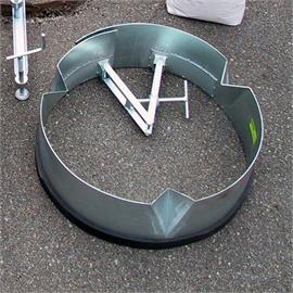 Cofragem de eixo metálico Ø 450 mm para esgotos de rua