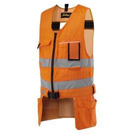 Colete de ferramentas HV Kl. 2, laranja, tamanho S Regular