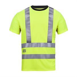 High Vis A.V.S. T-Shirt, Kl 2/3, Gr. S verde amarela