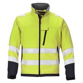 HV Softshell Jacket Kl. 3, amarelo, tamanho XXXL Regular