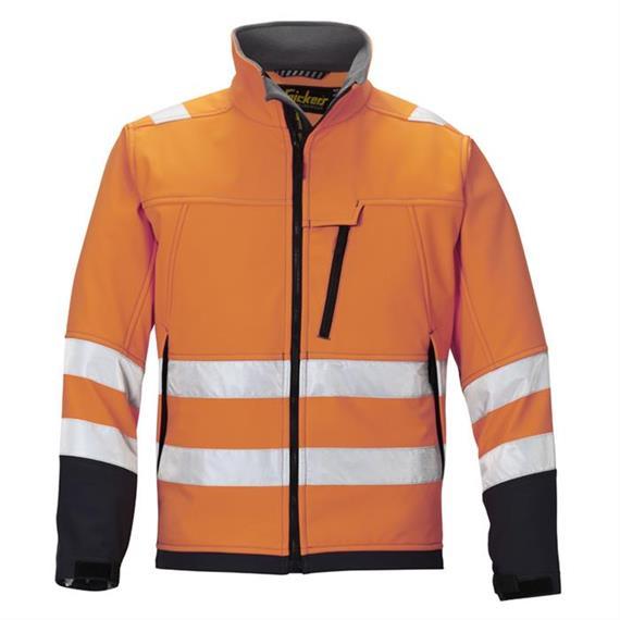 HV Softshell Jacket Kl. 3, laranja, tamanho S Regular