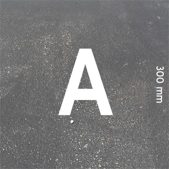 Letras MeltMark - altura 300 mm branco - Carta: A  altura: 300 mm
