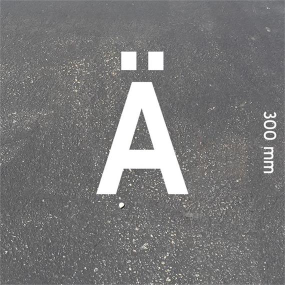 Letras MeltMark - altura 300 mm branco - Carta: Ä  altura: 300 mm