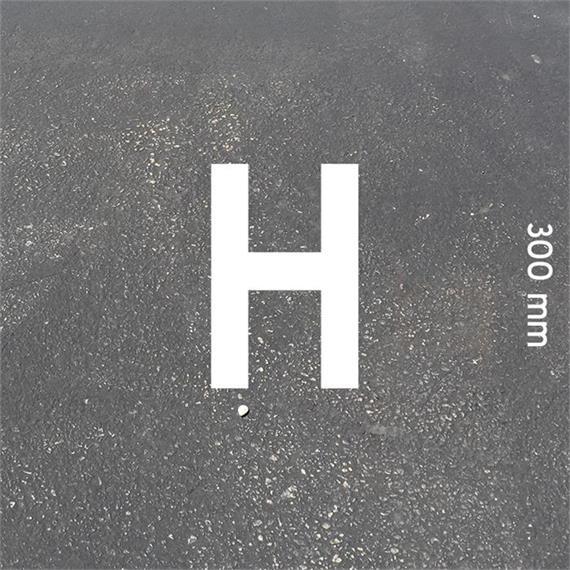 Letras MeltMark - altura 300 mm branco - Carta: H  altura: 300 mm