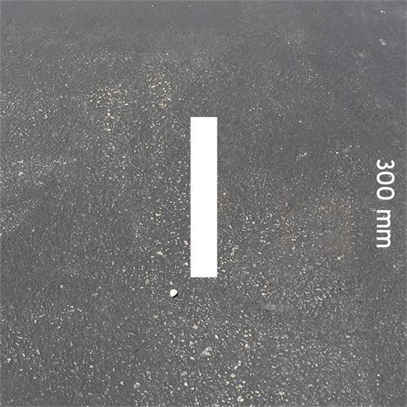 Letras MeltMark - altura 300 mm branco - Carta: I  altura: 300 mm