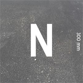 Letras MeltMark - altura 300 mm branco - Carta: N  altura: 300 mm
