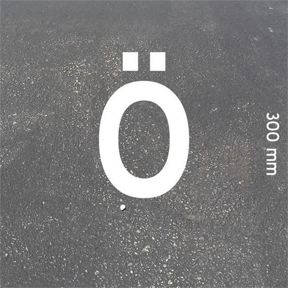 Letras MeltMark - altura 300 mm branco - Carta: Ö  altura: 300 mm