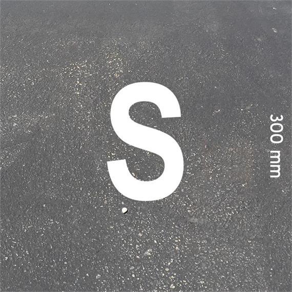Letras MeltMark - altura 300 mm branco - Carta: S  altura: 300 mm
