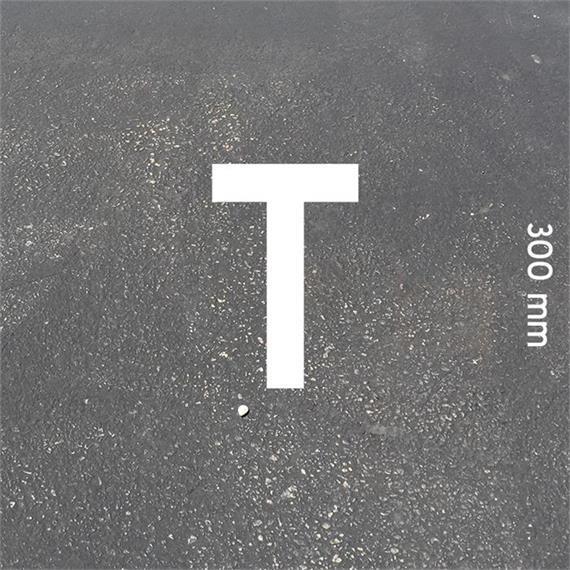 Letras MeltMark - altura 300 mm branco - Carta: T  altura: 300 mm