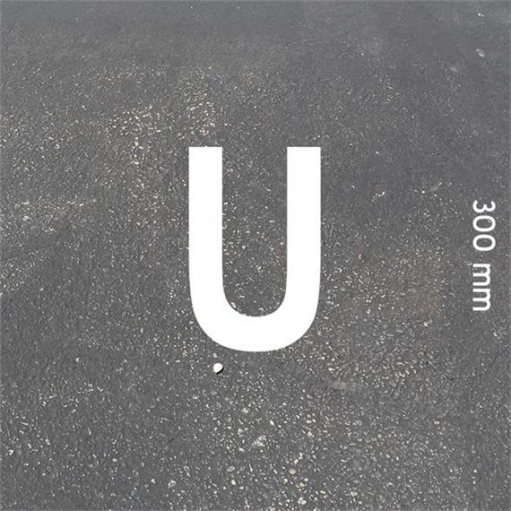 Letras MeltMark - altura 300 mm branco - Carta: U  altura: 300 mm