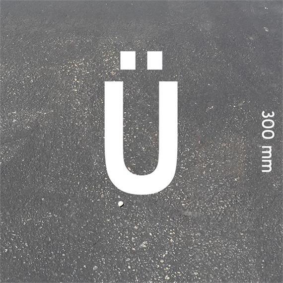 Letras MeltMark - altura 300 mm branco - Carta: Ü  altura: 300 mm