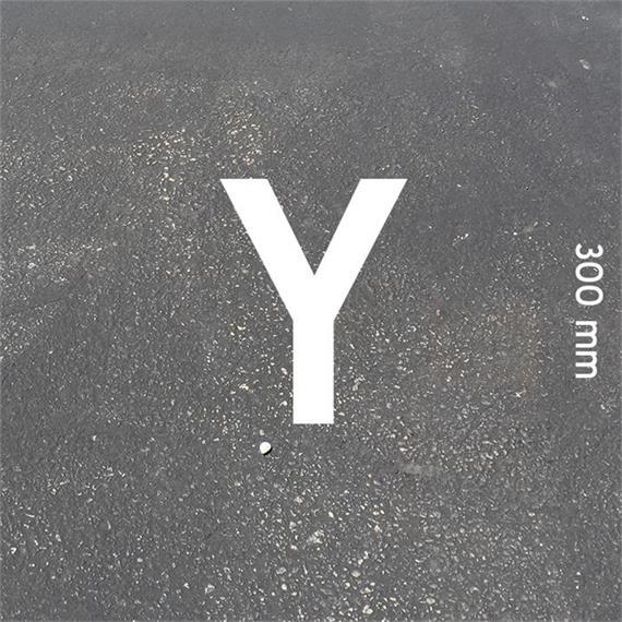 Letras MeltMark - altura 300 mm branco - Carta: Y  altura: 300 mm