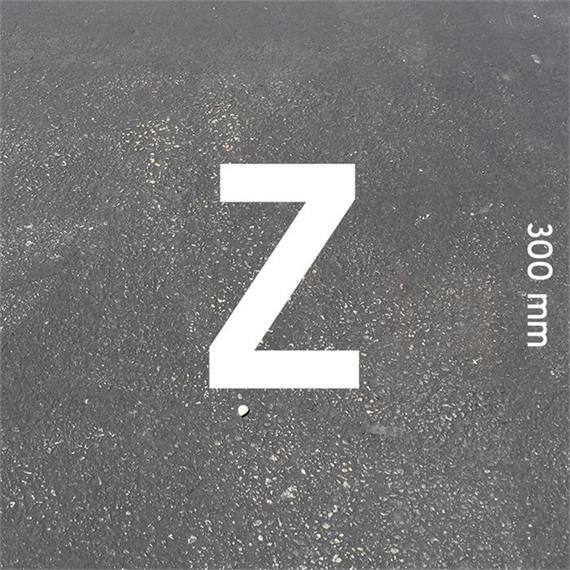 Letras MeltMark - altura 300 mm branco - Carta: Z  altura: 300 mm