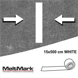 Rolo MeltMark branco 500 x 15 cm