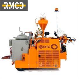 TH60 - Máquina para termo spray de plástico com acionamento hidráulico
