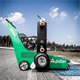 Mașină de demarcare pentru folie de marcaj rutier