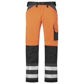 Pantaloni HV portocalii portocalii cl. 2, mărimea 48