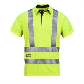 Tricou polo de înaltă vizibilitate A.V.S., clasa 2/3, mărimea S, galben-verde