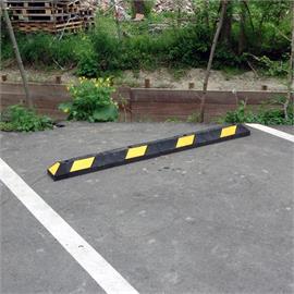 Park-It čierna 180 cm - žlté pásiky