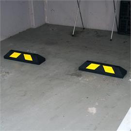Park-It Home čierna 55 cm - žlté pásiky