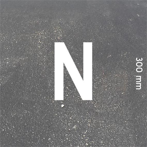 Písmená MeltMark - výška 300 mm biela - List: N  Výška: 300 mm
