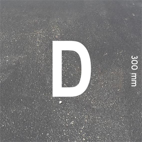 Písmená MeltMark - výška 300 mm biela - Písmeno: D  Výška: 300 mm