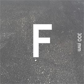 Písmená MeltMark - výška 300 mm biela - Písmeno: F  Výška: 300 mm