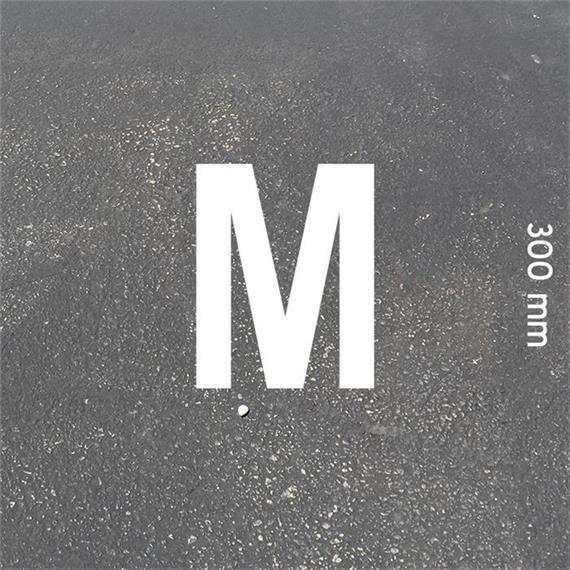 Písmená MeltMark - výška 300 mm biela - Písmeno: M  Výška: 300 mm