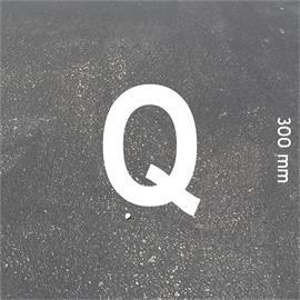 Písmená MeltMark - výška 300 mm biela - Písmeno: Q  Výška: 300 mm