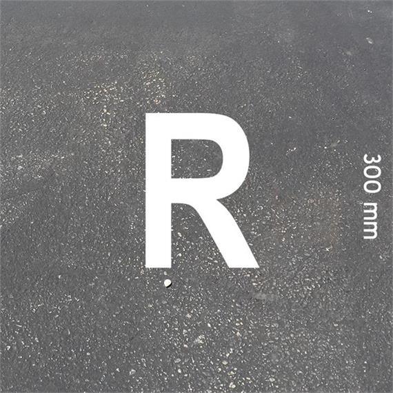 Písmená MeltMark - výška 300 mm biela - Písmeno: R  Výška: 300 mm