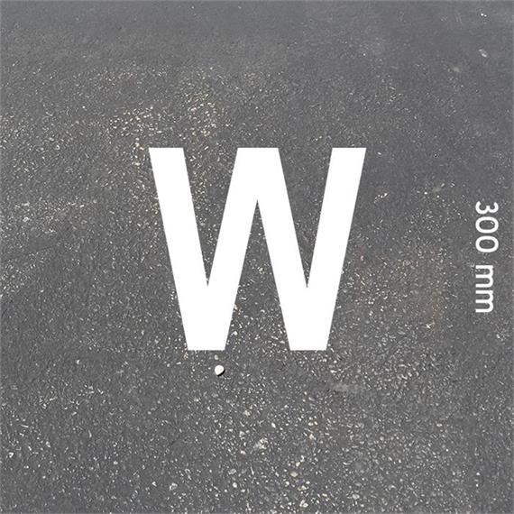 Písmená MeltMark - výška 300 mm biela - Písmeno: W  Výška: 300 mm