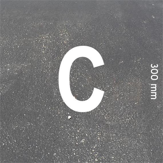 Črke MeltMark - višina 300 mm, bele - Crka: C  Višina: 300 mm