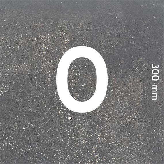 Črke MeltMark - višina 300 mm, bele - Crka: O  Višina: 300 mm