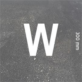 Črke MeltMark - višina 300 mm, bele - Crka: W  Višina: 300 mm