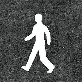 Golvmarkering för fotgängare vit 100 cm